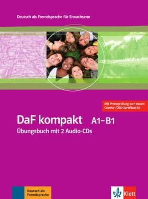 DaF kompakt: Übungsbuch A1-B1, m. 2 Audio-CDs