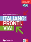 Italiano: Pronti, via!: A1-A2, Lehr- und Arbeitsbuch, Deutsche Ausgabe m. 3 Audio-CDs