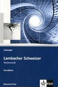 Lambacher-Schweizer, Sekundarstufe II, Ausgabe Rheinland-Pfalz: Grundkurs, Lösungen