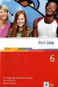 Red Line: Klasse 10, Trainingsheft Abschlussprüfung, Niedersachsen, m. Audio-CD; Bd.6