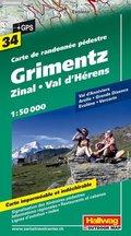 Hallwag Outdoor Map Grimentz, Zinal, Val d' Hérens
