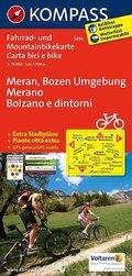 Kompass Fahrradkarte Meran, Bozen Umgebung; Merano, Bolzano e dintorni