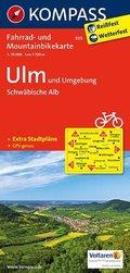 Kompass Fahrradkarte Ulm und Umgebung, Schwäbische Alb