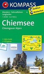 Kompass Karte Chiemsee, Chiemgauer Alpen