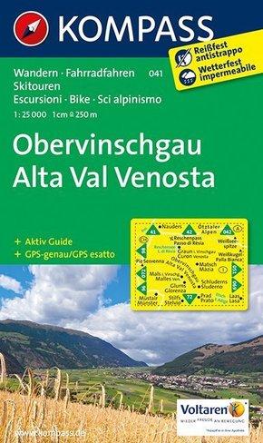 Kompass Karte Obervinschgau; Alta Val Venosta