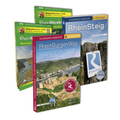 Rheinsteig/Rheinburgenweg - Premium-Set mit zwei Topo-Karten 1: 25000 des LVermGeo