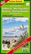 Doktor Barthel Karte Insel Usedom, Ahlbeck, Heringsdorf, Bansin, Swinemünde und Umgebung