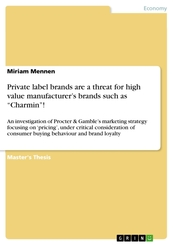 "Private label brands are a threat for high value manufacturer's brands such as ""Charmin""!"
