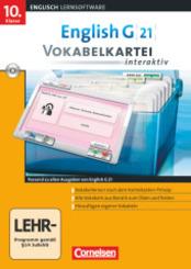 English G 21 (Lernsoftware): 10. Klasse, Vokabelkartei interaktiv, 1 CD-ROM