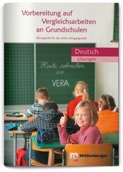 Vorbereitung auf Vergleichsarbeiten an Grundschulen - Deutsch, Lösungen