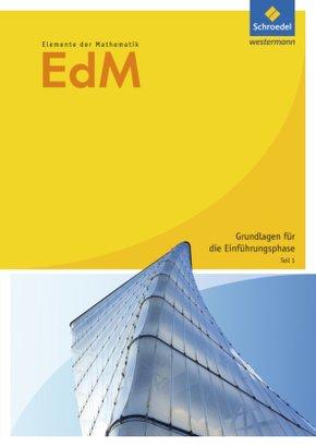 Elemente der Mathematik (EdM) SII, Allgemeine Ausgabe 2010: Vertiefungsfach - Tl.1