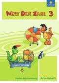 Welt der Zahl, Ausgabe 2010 Baden-Württemberg: 3. Schuljahr, Arbeitsheft