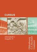 Cursus, Ausgabe N: Arbeitsheft - Tl.2