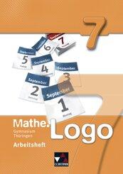 Mathe.Logo: 7. Schuljahr, Arbeitsheft Thüringen (Gymnasium)