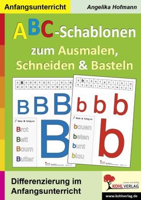ABC-Schablonen zum Ausmalen, Schneiden & Basteln