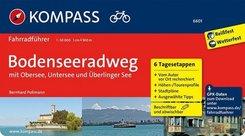 KOMPASS Fahrradführer Bodenseeradweg mit Obersee, Untersee und Überlinger See