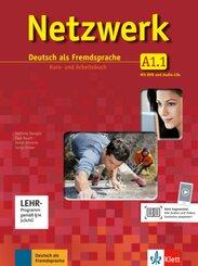 Netzwerk: Kurs- und Arbeitsbuch, m. 2 Audio-CDs u. 1 DVD; Bd.A1.1