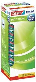 Klebefilm tesa Eco & Clear 33 m x 19 mm, Office Box, 8 Stück (8 Rollen)