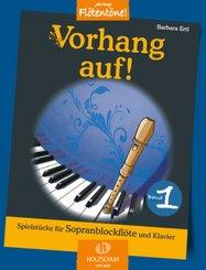 Vorhang auf!, für Sopran-Blockflöte und Klavier - Bd.1