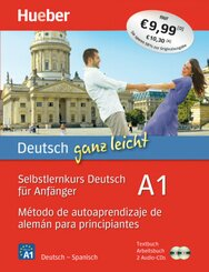 Deutsch ganz leicht A1: Método de autoaprendizaje de alemán para principiantes, Textbuch + Arbeitsbuch + 2 Audio-CDs