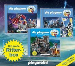Die Playmos - Die große Ritter-Box, 3 Audio-CDs