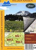 Alpenwelt Luftbildpanorama & Wanderkarte Wilder Kaiser