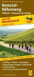 PublicPress Wanderkarte Remstal-Höhenweg, Fellbach - Remseck am Neckar