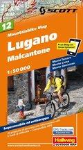 Hallwag Mountainbike Map Lugano, Malcantone