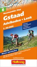 Hallwag Mountainbike Map Gstaad, Adelboden, Lenk