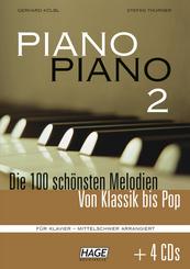 Piano Piano, mittelschwer arrangiert, m. 4 Audio-CDs - Bd.2