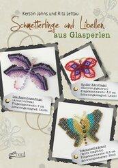 Schmetterlinge und Libellen aus Glasperlen