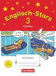 Englisch-Stars: 3. Schuljahr - Übungsheft Comics mit Lösungsheft