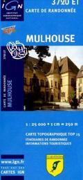 IGN Karte, Carte de randonnée (et plein air) Mulhouse
