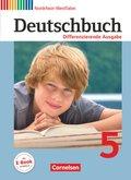 Deutschbuch, Differenzierende Ausgabe Nordrhein-Westfalen: 5. Schuljahr, Schülerbuch