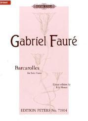 Barcarolles, Klavier