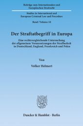 Der Straftatbegriff in Europa.