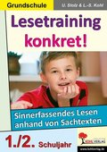 Lesetraining konkret!: 1./2. Schuljahr