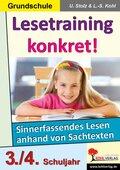 Lesetraining konkret!: 3./4. Schuljahr