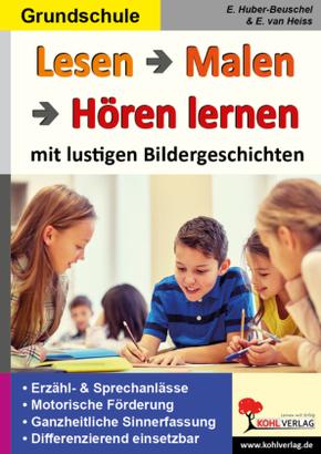Lesen - Malen - Hören lernen, m. CD-ROM