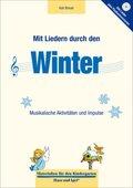 Mit Liedern durch den Winter, m. Audio-CD