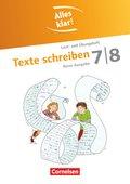Alles klar!, Sekundarstufe I, Neue Ausgabe: 7./8. Schuljahr, Texte schreiben