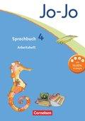 Jo-Jo Sprachbuch, Allgemeine Ausgabe, Neubearbeitung: 4. Schuljahr, Arbeitsheft