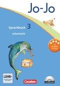 Jo-Jo Sprachbuch, Allgemeine Ausgabe, Neubearbeitung: 3. Schuljahr, Arbeitsheft m. CD-ROM