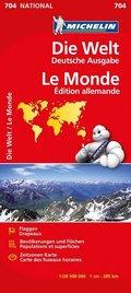 Michelin Karte Die Welt, deutsche Ausgabe; Le Monde, Édition allemande