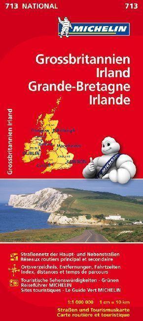 Michelin Karte Großbritannien, Irland; Grande-Bretagne, Irlande