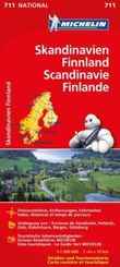 Michelin Karte Skandinavien, Finnland; Scandinavie, Finland