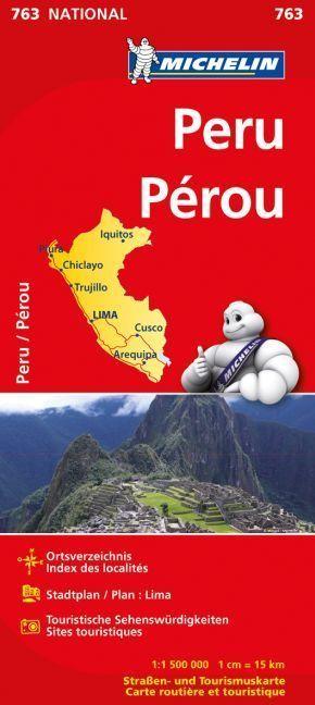 Michelin Karte Peru; Pérou