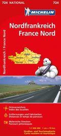 Michelin Karte Nordfrankreich; France Nord