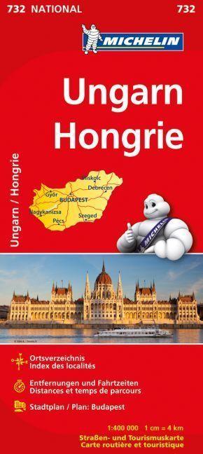 Michelin Karte Ungarn; Hongrie