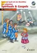 Die schönsten Spirituals & Gospels, für 1-2 Sopran-Blockflöten,  m. Audio-CD